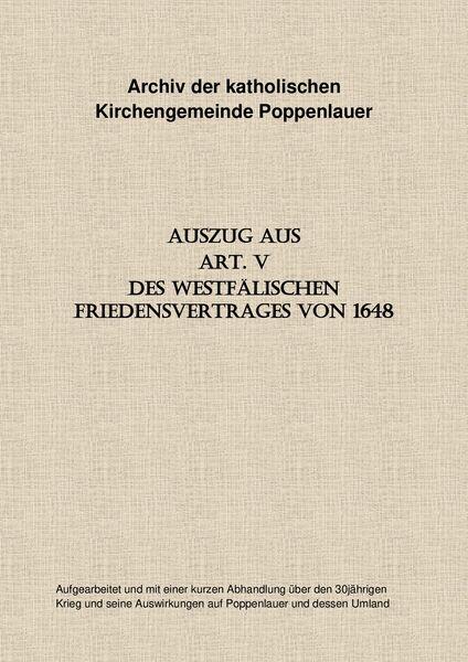 Deckblatt Archiv kath. Kirchengemeinde Ppl.